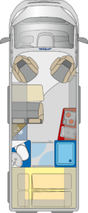 Roadstar 640 DK grondplan