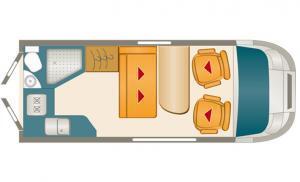 Karmann Dexter 550 grondplan