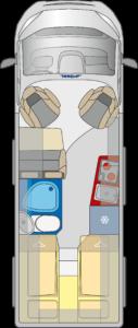 Pössl Roadcruiser B grondplan