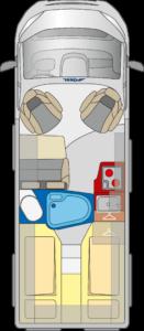 Roadstar 600L grondplan